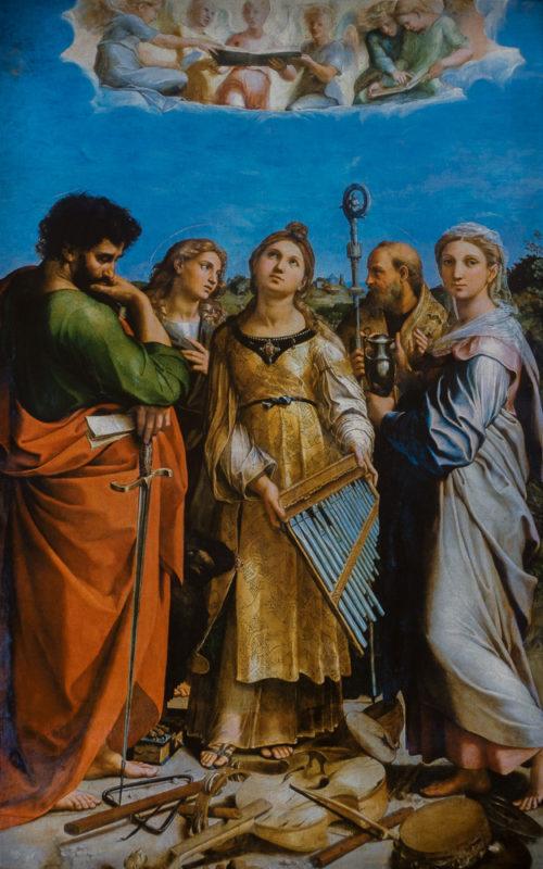 Ste Cécile parmi les Saints PAul
